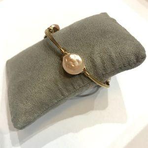 NEW Bourbon and Boweties Cream Flat Pearl Bracelet